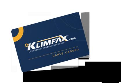 carte cadeau de 100$ Klimfax thermopompe climatisation filtres à air